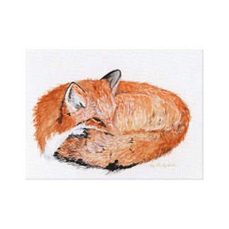 Sleeping Fox print