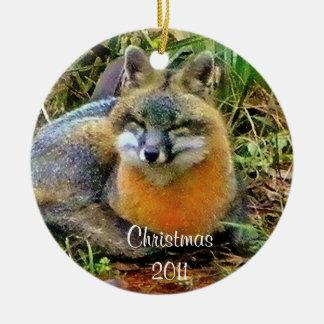 Sleeping Foxes  Christmas ornament