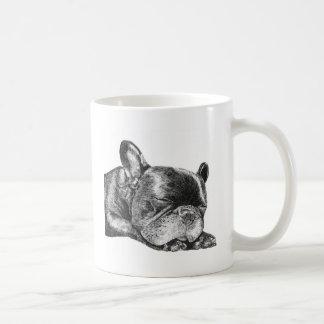 Sleeping French Bulldog mug
