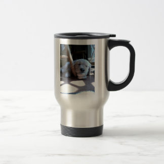 Sleeping Golden Retriever Puppy Coffee Mug