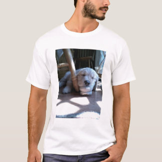 Sleeping Golden Retriever Puppy T-Shirt
