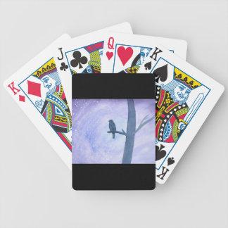 Sleeping Hawk Bicycle Playing Cards