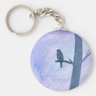 Sleeping Hawk Key Ring