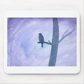 Sleeping Hawk Mouse Pad