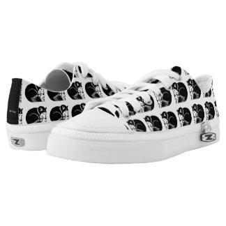 Sleeping Huskies Black and White Shoes