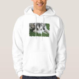 Sleeping Husky Men's Hooded Sweatshirt