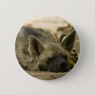 Sleeping Hyena  Button