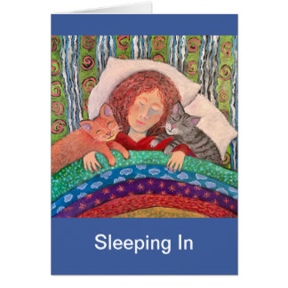 Sleeping In Card
