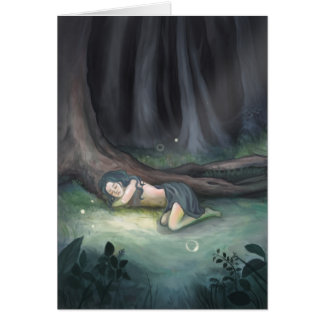 Sleeping in the Woods Greeting Card
