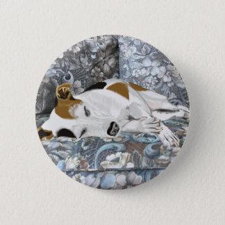 Sleeping Jack Russell 6 Cm Round Badge