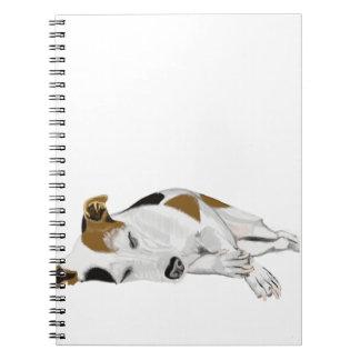 Sleeping Jack Russell Notebook
