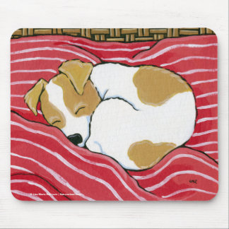 Sleeping Jack Russell Puppy Dog Art Mouse Pad
