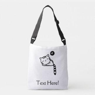 Sleeping Kitty Crossbody Bag