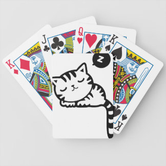 Sleeping Kitty Drawing Bicycle Playing Cards