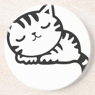 Sleeping Kitty Drawing Coaster