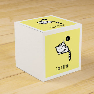 Sleeping Kitty Party Favour Boxes