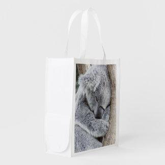sleeping koala baby2 reusable grocery bag