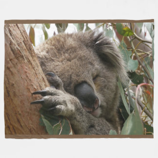 Sleeping Koala Bear Large Fleece Blanket