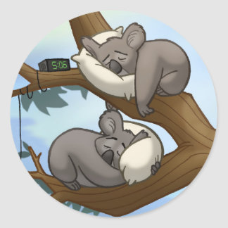Sleeping Koala Stickers