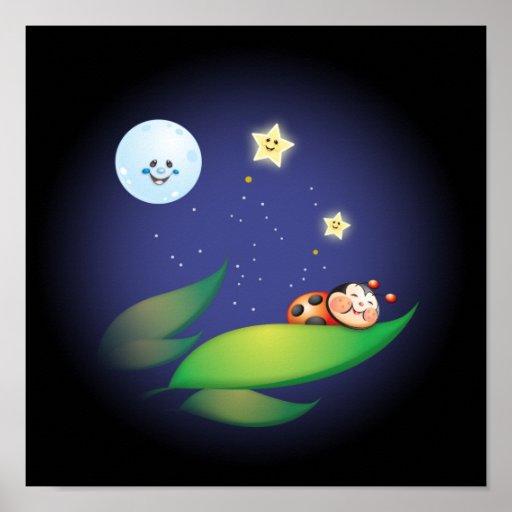 Sleeping Ladybug Posters