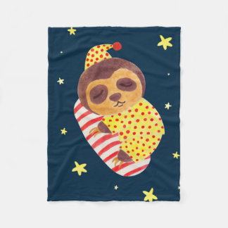 Sleeping Like a Sloth Fleece Blanket