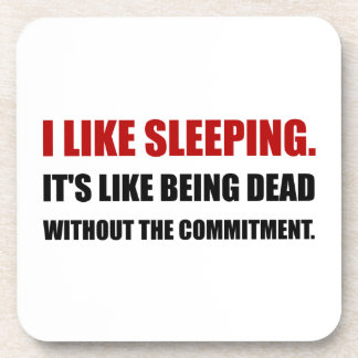 Sleeping Like Dead Commitment Coasters