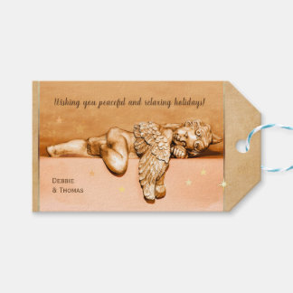 Sleeping Little Holiday Angel Gift Tags