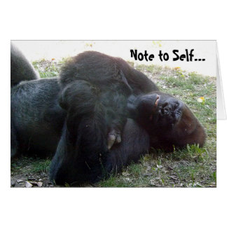 Sleeping Lowland Gorilla Hangover Never Drink Card