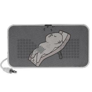 Sleeping man Doodle Mini Speaker