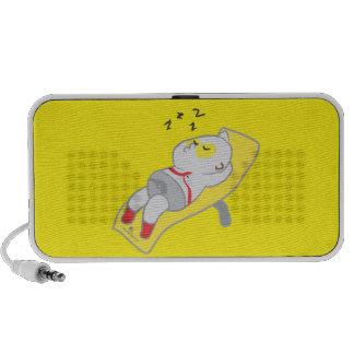 Sleeping man Doodle Portable Speaker