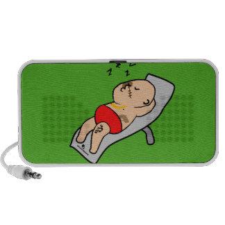 Sleeping man Doodle Mp3 Speakers