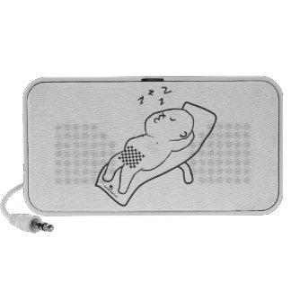 Sleeping man Doodle Speakers
