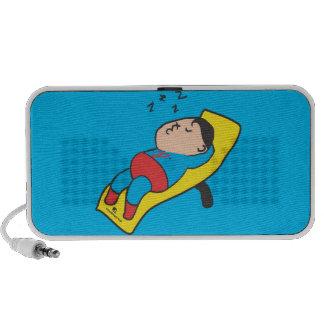 Sleeping man Doodle Travelling Speakers