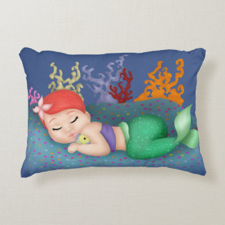 Sleeping Merbaby Accent Pillow
