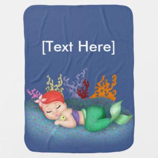 Sleeping Merbaby Baby Blanket