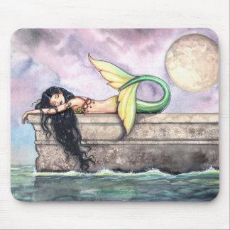 Sleeping Mermaid Mousepad by Molly Harrison