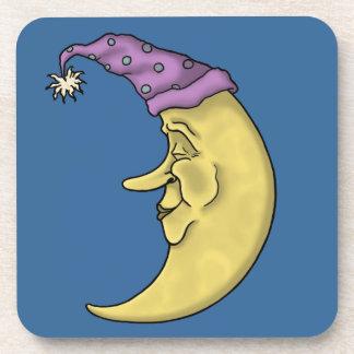 sleeping mister moon cork coaster