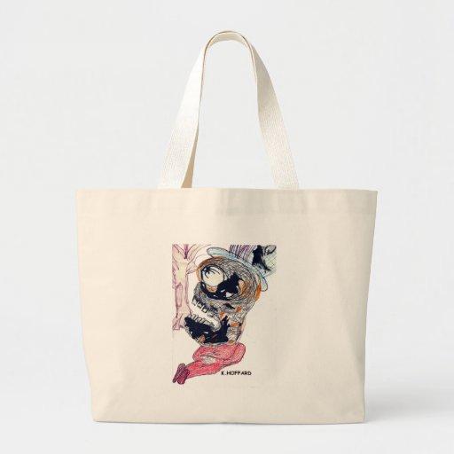 """Sleeping Monster"" Canvas Bags"