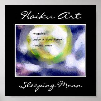 Sleeping Moon Haiku Art Print