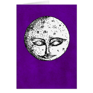 Sleeping Moon on Intense Violet Card