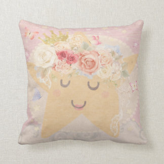 Sleeping Moon Star Boho Butterfly Nursery Pillow