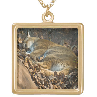 Sleeping Mountain Lion pendent necklace