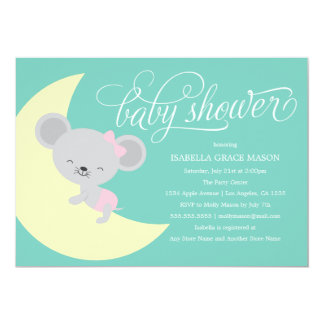 Sleeping Mouse | Baby Shower Invite