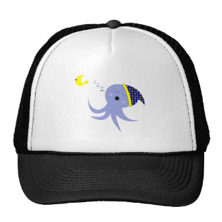 Sleeping Octopus Trucker Hat
