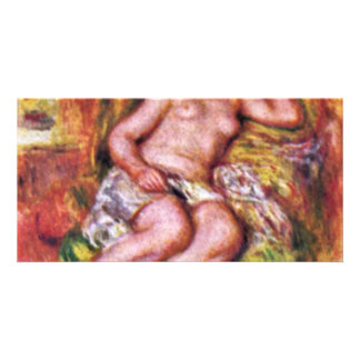 Sleeping Odalisque (Odalisque) With Slippers Customized Photo Card