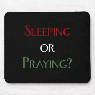 Sleeping or praying - islamic muslim prayer print mouse pad