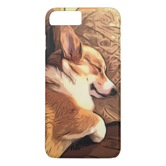 Sleeping Pembroke Welsh Corgi dog iPhone 8 Plus/7 Plus Case