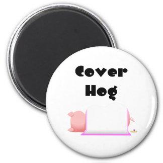 Sleeping Pig Pink Blanket Cover Hog Refrigerator Magnets