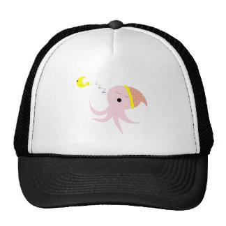 Sleeping Pink Octopus Trucker Hat