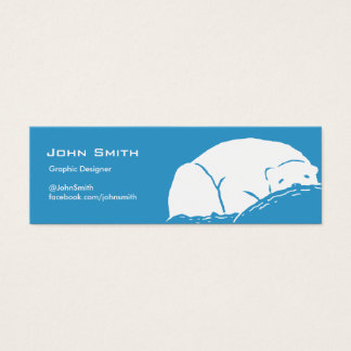 Sleeping Polar Bear Blue Profile Card